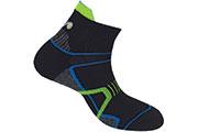 Chaussettes High Trail 2 noires bleues