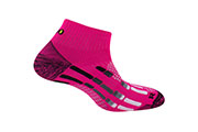 Chaussettes Pody Air Run rose fluo