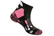 Chaussettes Pody Air Trail noires roses