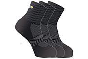 Lot 3 paires chaussettes tige courte multisports noir