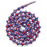 Lacets autobloquants 75 cm bleu blanc rouge
