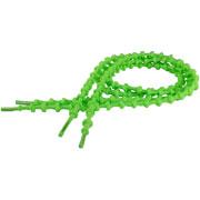 Lacets autobloquants 75 cm vert fluo