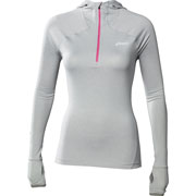 Maillot manches longues 1/2 zip Hoody gris Wo