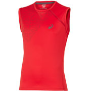 T-Shirt sleeveless top rouge