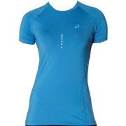 Tshirt SS Top running bleu W