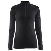 Maillot Be Active Intensity col zippé W Noir