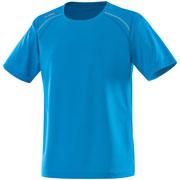T shirt Run bleu