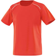 T shirt Run orange fluo
