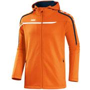 Veste à capuche performance orange fluo