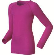 T-Shirt manches longues Warm violet rose