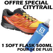 Sense Mantra 3 orange jaune + 1 Softflask 500mL Salomon