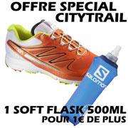 Sense Pro blanche orange + 1 Softflask 500mL Salomon