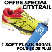 X Scream 3D jaune rouge + 1 Softflask 500mL Salomon