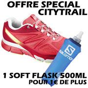 X Scream 3D rose blanche + 1 Softflask 500mL Salomon