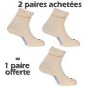 2 PAIRES ACHETEES + 1 OFFERTE Double Club beige