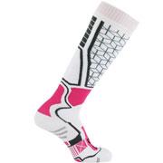 Chaussettes de ski Céramique blanche rose