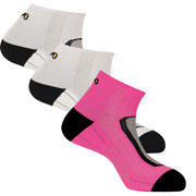 Lot 3 paires chaussettes Run Lighty blanc rose