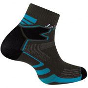 Socquette trail double skin grises bleu