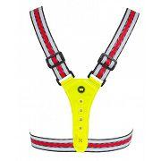 Harnais de sécurité 4 leds blanches + 4 leds rouges rechargeable par USB