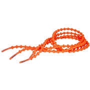 Lacets autobloquants 75 cm orange fluo
