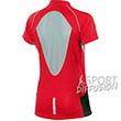T shirt running Trail femme col zippé rouge