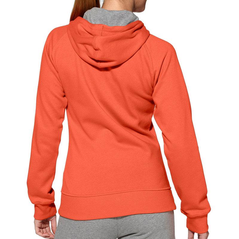 Zip Hoodie Knitting Pattern : Sweat Knit Full Zip Hoodie orange