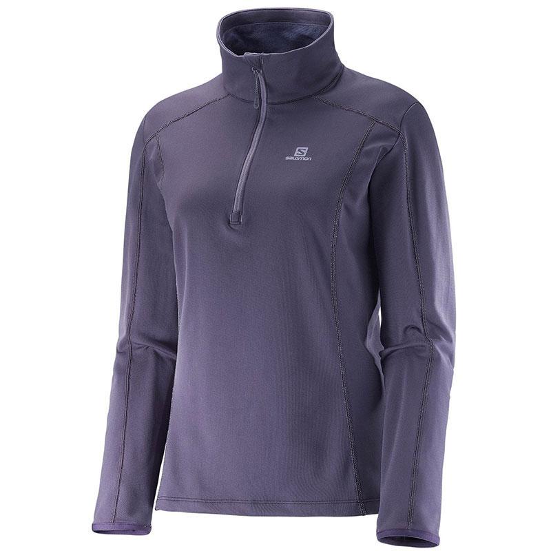salomon maillot manches longues discovery hz w violet textile femme maillot manches longues. Black Bedroom Furniture Sets. Home Design Ideas