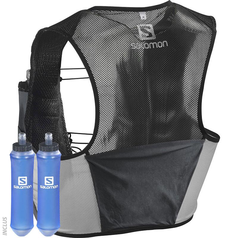 prix compétitif a0970 489a9 Salomon Sac d'hydratation Slab Sense 2 Set noir Accessoires ...
