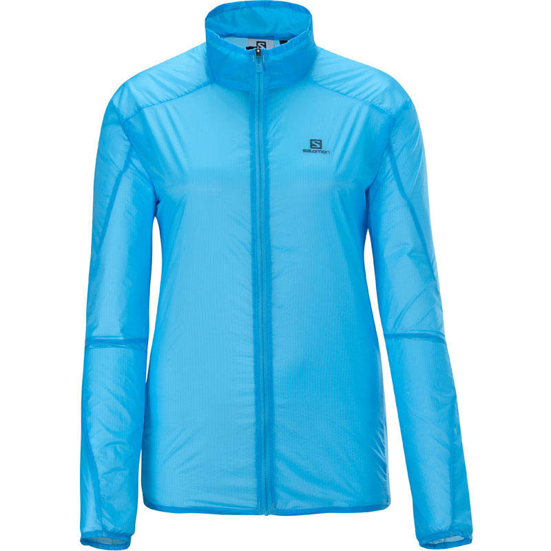Salomon Veste ultra légère SLab Light femme bleu