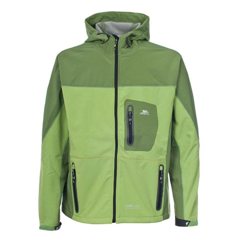 0d2659a7165dc Trespass Veste en softshell pour homme Purna verte capuche Textile Homme  Veste